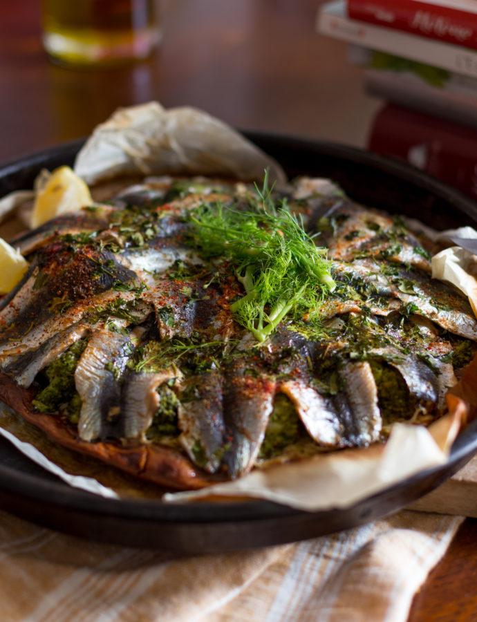 Sardine en éventail