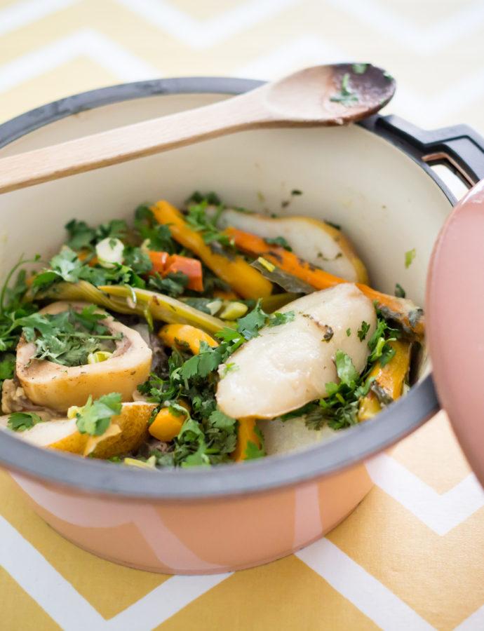 L'art du partage : le ragoût de bœuf aux poires et carottes
