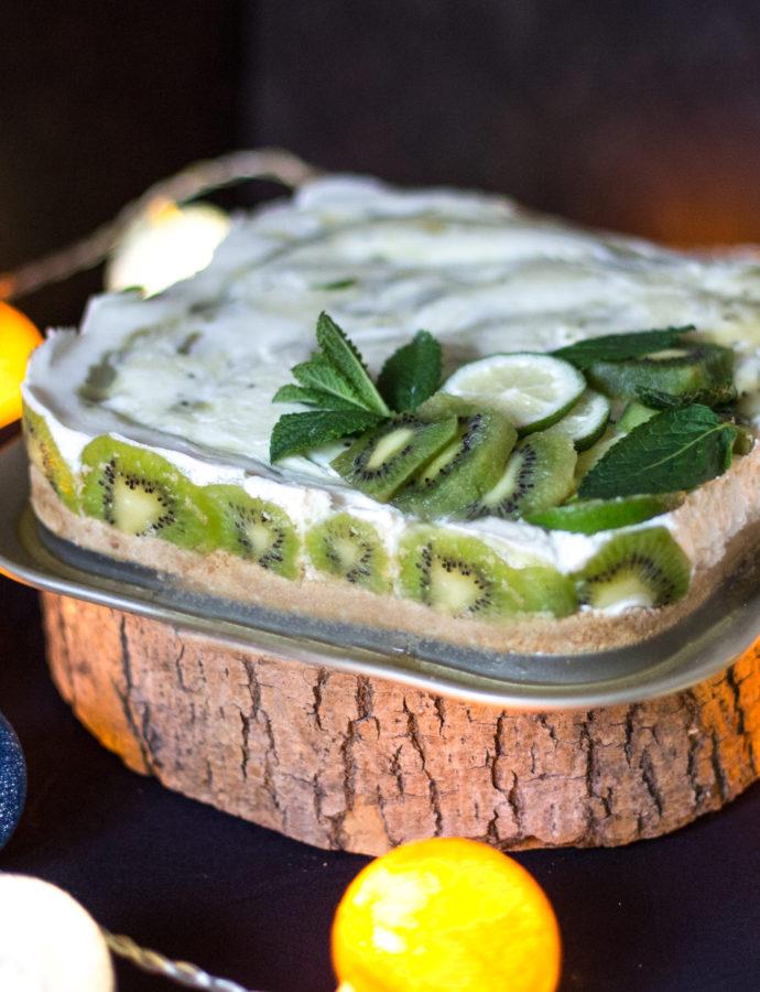 Cheesecake aux kiwis